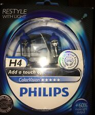 PHILIPS H4 COLOR VISION H4 BLUE COLOUR VISION PHILIPS BULBS