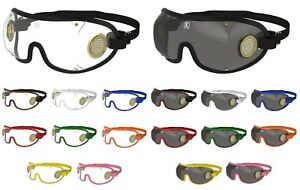 NEW- KROOPS Horse Racing Riding Jockey Goggles |Brass Vent |Clear+Tinted Lenses