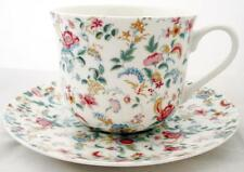 Petite Bombay Large Cup & Saucer Fine Bone China Breakfast Set Hand Decorated UK