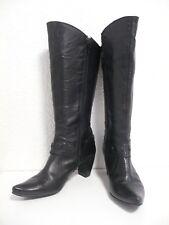 Bottes ♥ SPIRAL ♥ Taille 40 en cuir noir à talon bout pointu pointure femme