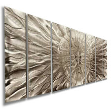 Modern Abstract Office Silver Metal Wall Art Decor Sculpture Eye Of The Storm