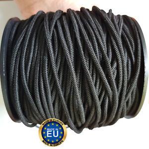 DIFIER 40M Gummiband Gummib/änder Rund Gummikordel N/ähen 3mm Elastische Elastisches Band zum N/ähen und Haushalt DIY Handwerk Schwarz