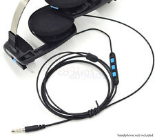 Replacement audio cable with mic remote for koss pp portapro porta pro headset u