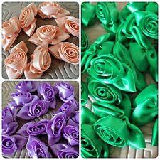 Satin Ribbon Roses Buds Embellishments