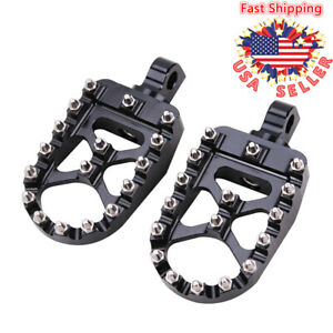 Wide MX Style Foot Pegs Rests Pedals Bobber For Harley Dyna Sportster XL883 1200