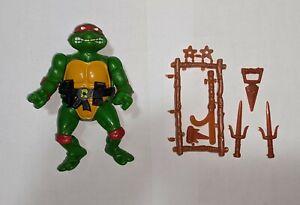 Vintage TMNT Teenage Mutant Ninja Turtles 1988 Raphael with Accessories