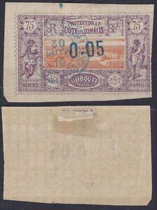 Somali Coast 1902 Sc-24(YT-23) Brown-Red - Lilac 0.05 Overprint 75c Used