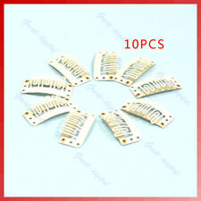 40X U Blonde Shape Snap Clip For Hair Extension/wig/weft Clip32mm