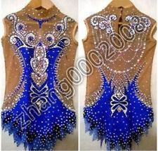 rhythmic gymnastics leotard blue competition AcrobaticTwirling dance RG custom