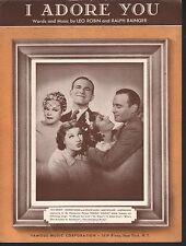 I Adore You 1936 George Burns Gracie Allen Jack Benny Mary Boland Martha Raye