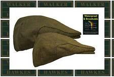 Walker & Hawkes Uni-sex Derby WATERPROOF Branded Hat Tweed Flat Cap Country Hat