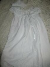 euc mothercare white eyelet Christening gown bonnet baby girl 0 m 6 m free ship