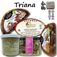 Triana Tapas Time Artisanal Gourmet Food Gift Basket 5 Spanish Cheese and Salad