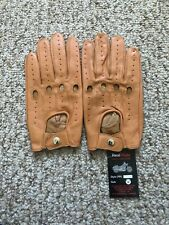 Men's Driving Tan leather Gloves  Size Medium