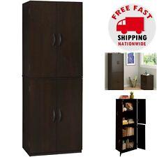 KITCHEN PANTRY CABINET Storage Wood Tall Organizer Adjustable Shelves Furniture