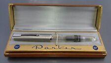 PARKER 51 VACUMATIC UNINKED 1948 DEMONSTRATOR LUSTALOY CAP BOX MINT