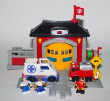 GeoTrax Fire Rescue Station with Ambulance N8343