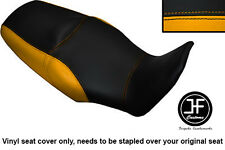 BLACK & YELLOW VINYL CUSTOM FITS HONDA XL 1000 V VARADERO 08-13 DUAL SEAT COVER