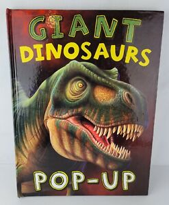 Giant Dinosaurs Pop Up Book 2010 Borders Group First Edition Hardcover