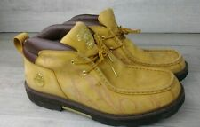 Timberland Moccasin Style Boot With gold Accents And Design Mens US Size 11.5