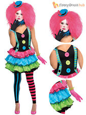 Girls Teen Cool Clown Costume Circus Fancy Dress Party Halloween Jester Monster 10-12 Years