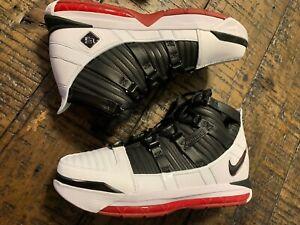 Nike Zoom LeBron 3 III QS Home White Black Crimson AO2434-101 NO BOXTOP SZ 7.5