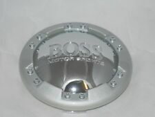 RARE EARLY BOSS MOTORSPORTS 3134-03 CHROME AND SILVER WHEEL RIM CENTER CAP