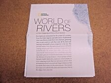 National Geographic April 2010 Map World of Rivers/Hidden Water