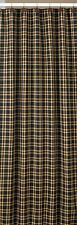 Primitive Country Cambridge Shower Curtain 72x72 Black Barn Red Golden Tan Plaid