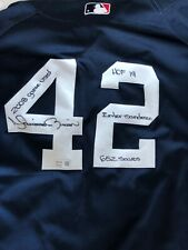 Mariano Rivera Game Used Signed Stat Jersey Auto New York Yankees Steiner