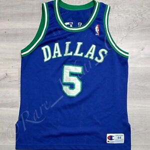NBA JERSEY DALLAS MAVERICKS JASON KIDD CHAMPION AUTHENTIC SZ 44 RARE VINTAGE 90s