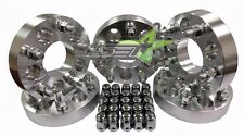 "5 JEEP WHEEL SPACER ADAPTERS 5X4.5 TO 5X5 1.5"" THICK + 25 BULGE ACORN LUGS"