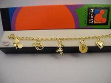 DISNEY  Mickey Goldtone Charm Bracelet  NEW IN BOX  REDUCED