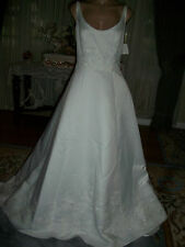 WHITE BEADED BRIDAL GOWN  WEDDING DRESS SIZE  14 BY BRIDAL ORIGINALS #3249  NWT