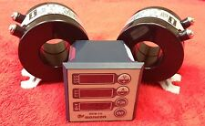 Single Phase Meter for Amperage, Voltage, Frequency, Hours With two 50 AMP CTs