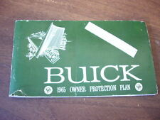 Vintage 1965 Buick Owner Protection Plan Protect O Plate Guide Car 43 pages