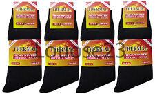 6prs grueso para hombre Térmico Ski Boot caminata trabajo calcetines invierno cálido constructores-Negro