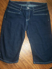 WOMENS SONOMA CAPRI/CROPPED JEANS**SIZE 12**DARK WASH**VERY NICE/HIP