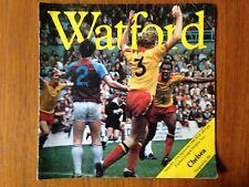 Watford v Chelsea 1980/81 programme