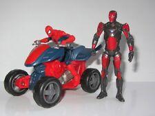 "Marvel UNIVERSO 4"" TOY FIGURE SET SPIDER-MAN Moto Quad e Iron Man"