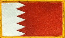 BAHRAIN Flag Iron-On Tactical Morale ARMY Patch Gold Border #7