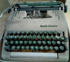 Vintage '1950s *Smith Corona Silent-Super* Portable Typewriter, With: Case