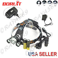 Genuine BORUiT RJ-5000 30W  3*XM-L 3T6/L2 LED Headlamp hunting Headlight 18650