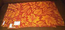 Orange Fabric Place mats with Leaf Design - Set of 4
