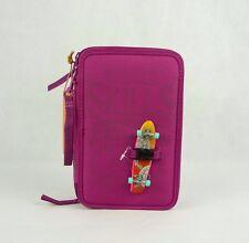 7Skills 3-fach Federtasche mit Pennyboard klein - Pink Depesche 6405 gefüllt