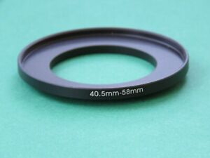 40.5mm-58mm Stepping Step Up Male-Female Filter Ring Adapter 40.5mm-58mm