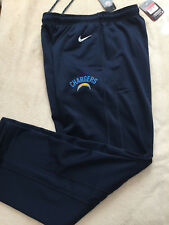 NWT NIKE NFL CHARGERS THERMA FIT MEN SWEAT PANTS SIZE L 746270-419 NAVY