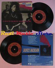 LP 45 7'' JANET JACKSON Let's wait awhile Nasty 1987 england A&M no cd mc dvd