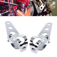 Motorcycle Headlight Mount Bracket 35mm-43mm For Harley Bobber Racer Fork Tube