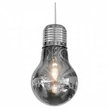 Fumé géant ampoule lampe de plafond argent chromé moderne funky metal light